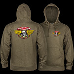 Powell Peralta Winged Ripper Hooded Sweatshirt Mid Weight Army Heather