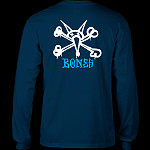 Powell Peralta Rat Bones L/S T-shirt Navy