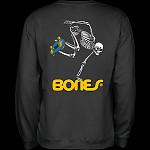 Powell Peralta Skateboard Skeleton Midweight Crewneck Sweatshirt - Black