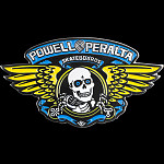 Powell Peralta Winged Ripper Lapel Pin Blue