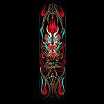 Powell Peralta Pro Steve Caballero Pinstripe Black Skateboard Deck - 8.25 x 32.5