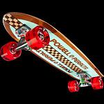 Powell Peralta Sidewalk Surfer Retro Checker Skateboard Cruiser Assembly - 7.75 x 27.20 WB 14.0