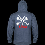 Powell Peralta Rat Bones Mid Weight Hooded Sweatshirt - Navy Heather