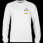 Powell Peralta Skateboarding Skeleton YOUTH L/S - White