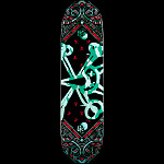 Powell Peralta Vato Rat Band Turquoise Skateboard Deck - 8.25 x 31.6