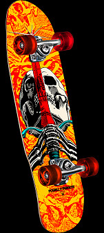Powell Peralta Mini Skull and Sword Complete Skateboard - 8 x 30