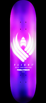 Powell Peralta Flight® Skateboard Deck Glow Purple - Shape 244 - 8.5 x 32.08