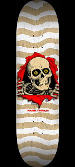 Powell Peralta Ripper Blem Skateboard Deck White 247 K20 - 8 x 31.45