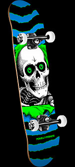Powell Peralta Ripper One Off Skateboard Blue/Green - 7.75 x 31.75