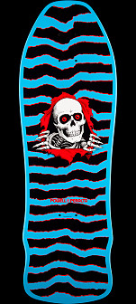 Powell Peralta Geegah Ripper Skateboard Deck Blue- 9.75 x 30
