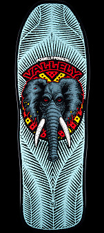 Powell Peralta Vallely Elephant Skateboard Deck BLUE - 10 x 30.25