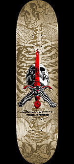 Powell Peralta Skull and Sword Skateboard Deck Natural - Shape 246 - 9.05 x 32.095