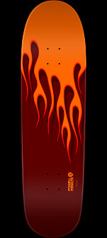 Powell Peralta NITRO Hot Rod Flames Skateboard Deck Orange/Red - 9.375 X 33.875