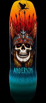 Powell Peralta Pro Any Anderson Crane Flight Skateboard Deck - 8.45 x 31.8