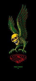 Powell Peralta Funshape Winged Skull 3 Skateboard Deck - 8.5 x 32.875