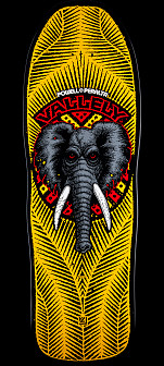 Powell Peralta Mike Vallely Elephant Skateboard Deck - Yellow / Black 10 x 30.25