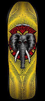 PRE-ORDER Powell Peralta Mike Vallely Elephant Skateboard Deck -  Yellow / Black 10 x 30.25