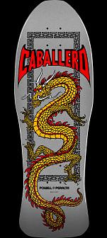 Powell Peralta Caballero Chinese Dragon Skateboard Deck Silver - 10 x 30