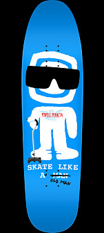 Powell Peralta Funshape SLAOM 3 Skateboard Deck Royal Blue - 8.4 x 31.5