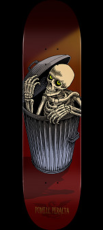 Powell Peralta Garbage Can Skelly Skateboard Deck Burgundy - 8.25 x 31.95 8 x 31.45