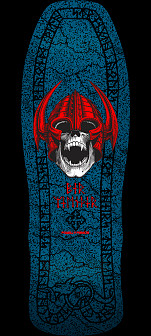 Powell Peralta Welinder Nordic Skull Skateboard Deck Blue - 9.625 x 29.75
