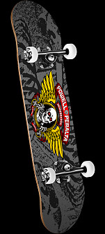 Powell Peralta Winged Ripper '15' Complete Skateboard Assembly Silver - 8 x 32.125
