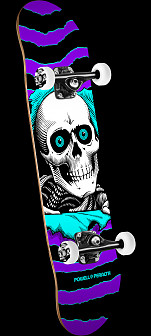 Powell Peralta Ripper One Off '15' Complete Skateboard Assembly Purple/Turq.