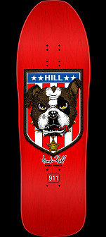 Powell Peralta Frankie Hill Bulldog Skateboard Deck Red - 10 x 31.5
