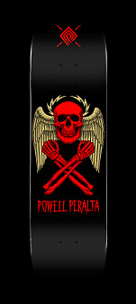 Powell Peralta Halo Bolt Skateboard Deck Black - Shape 248 - 8.25 x 31.95