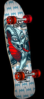 Powell Peralta Mini Cab Dragon White Complete Skateboard - 8.0 x 29.5