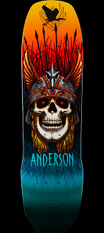 Powell Peralta Pro Andy Anderson Heron Flight® Skateboard Deck - 8.45 x 31.8