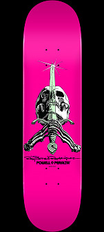 Powell Peralta Skull and Sword Skateboard Deck Pastel Pink 244 K20 - 8.5 x 32.08