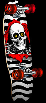 Powell Peralta Micro Mini Ripper White Complete Skateboard - 7.5 x 24