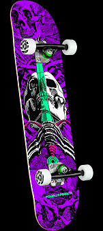 Powell Peralta Skull & Sword One Off Purple Birch Complete Skateboard - 7.5 x 28.65