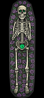 Powell Peralta FS Casket 3 Skateboard Deck Purple Skateboard Deck - 8.75 x 32