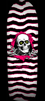 Powell Peralta Old School Ripper Skateboard Deck White/Pink - 10 x 31.75