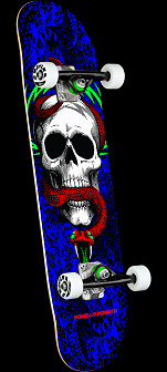 Powell Peralta Skull & Snake One Off Royal Blue Birch Complete Skateboard - 7.75 x 31.08