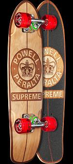 Powell Peralta Sidewalk Surfer Supreme Natural Skateboard Cruiser Assembly - 7.75 x 27.20 WB 14.0