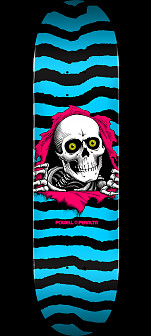 Powell Peralta Ripper Skateboard Deck Aqua - Shape 243 - 8.25 x 31.95