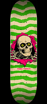 Powell Peralta Ripper Skateboard Deck Natural Green - Shape 246 - 9 x 32.95