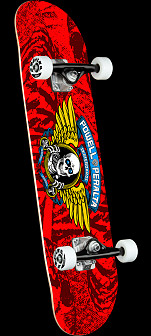 Powell Peralta Winged Ripper Red Complete Skateboard - 7 x 28
