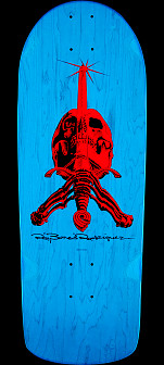 Powell Peralta OG Rodriguez Skull and Sword Skateboard Deck Blue - 10 x 28.25