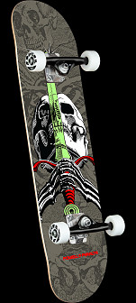 Powell Peralta Skull & Sword Gray Birch Complete Skateboard - 7.5 x 28.65