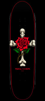 Powell Peralta Funshape Rose Cross Skateboard Deck - 8.6 x 31.84