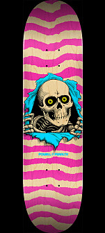 Powell Peralta Ripper Skateboard Deck Natural Pink - Shape 249 - 8.5 x 32.08