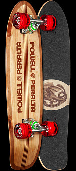 Powell Peralta Sidewalk Surfer Quad Stringer Skateboard Cruiser Assembly - 7.75 x 27.20 WB 14.0
