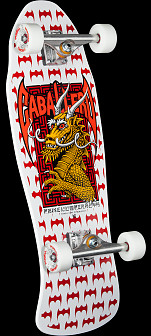Powell Peralta Cab Dragon and Bats Complete Assembly White - 9.625 x 29.75