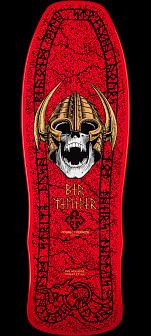 Powell Peralta Welinder Nordic Skull Skateboard Deck Red - 9.715 x 29.75