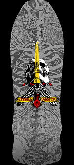 Powell Peralta Geegah Skull and Sword Silver - 9.75 X 30