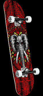 Powell Peralta Vallely Elephant Red Birch Complete Skateboard - 8.25 x 31.95